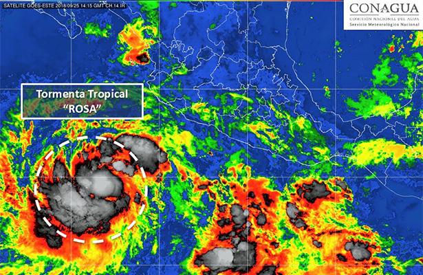"""Depresión tropical ya es Tormenta """"Rosa"""" podría volverse huracán"""