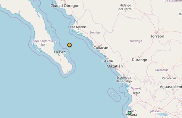 Se registra sismo de 4.2 grados en el Mar de Cortés