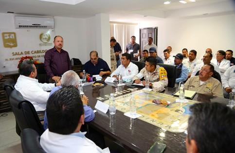 El alcalde de Comondú, José Walter, declaró instalado el Consejo Municipal de Protección Civil.  (Cortesía) / El Sudcaliforniano