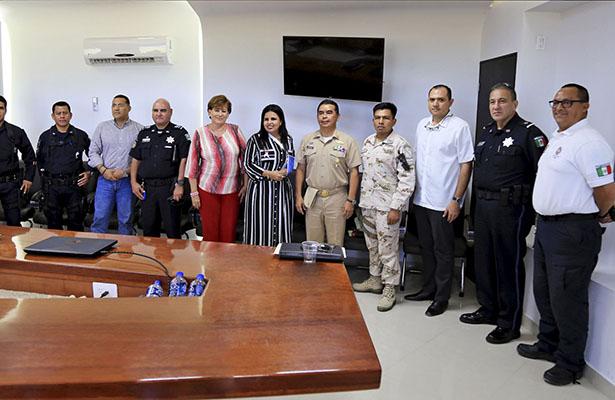 Sesiona Consejo de Seguridad Pública en Los Cabos