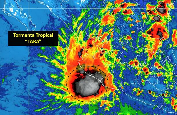 """Tormenta tropical """"Tara"""" se encuentra en el Pacífico"""