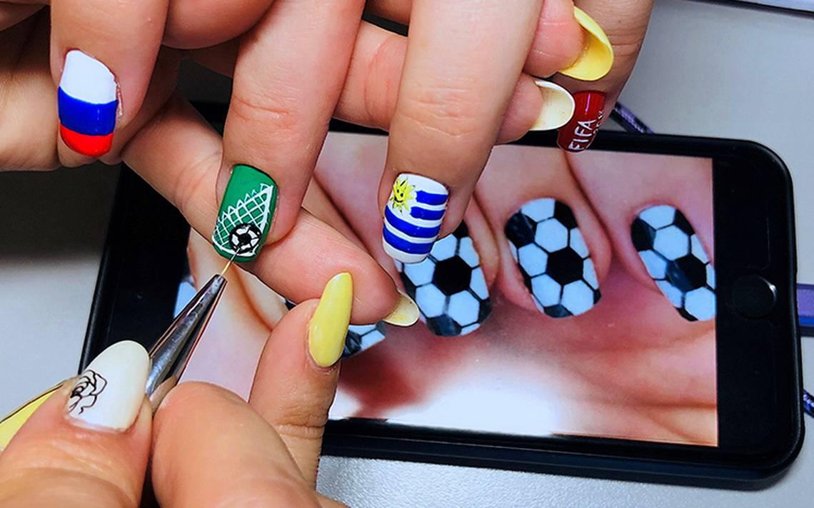 Mundial hasta en las uñas: así triunfa la manicura deportiva en Rusia