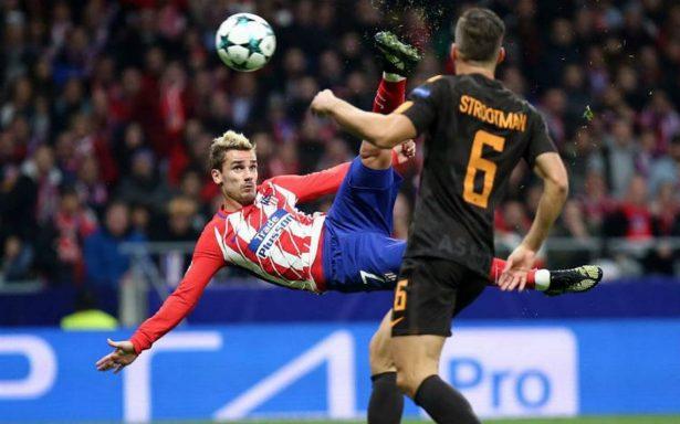 Respira el Atlético de Madrid con triunfo ante la Roma