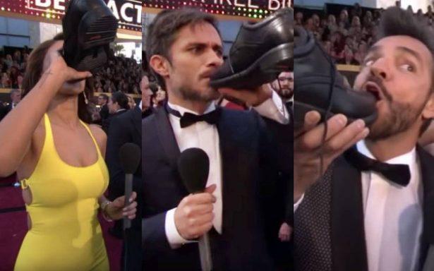 Así es como Eiza González, Gael García y Eugenio Derbez bebieron tequila en los Oscar