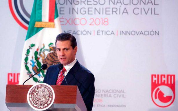 México ha mantenido la ruta del desarrollo, asegura Peña Nieto