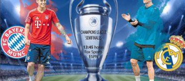 Real Madrid visitará hoy al Bayern Múnich en la ida de las semifinales de la Champions League