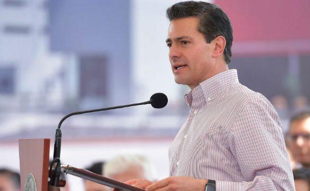 Peña Nieto inaugura mega drenaje pluvial en Campeche