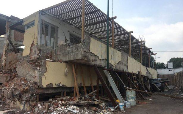 Concluye segunda etapa de demoliciA?n en el Colegio RA�bsamen