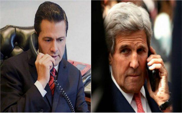 Kerry felicita a Peña Nieto por labor de México en protección del medio marino