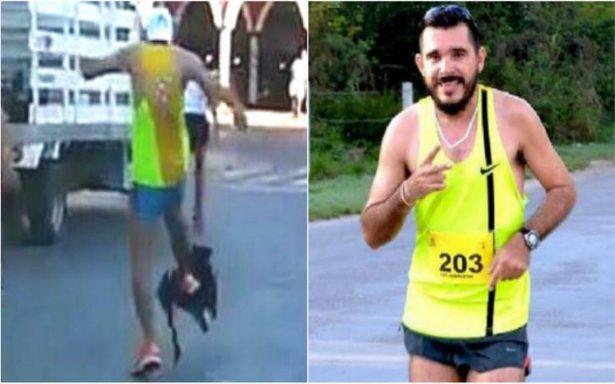 [Video] Exhiben a maratonista que pateó a un perrito en plena competencia