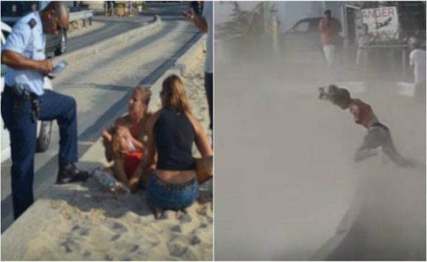 [Video] Muere mujer por ráfaga de avión en playa del Caribe