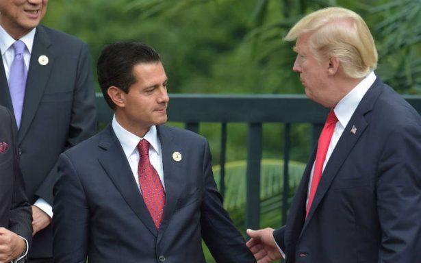 Peña Nieto revira a Trump por llamada sobre muro fronterizo