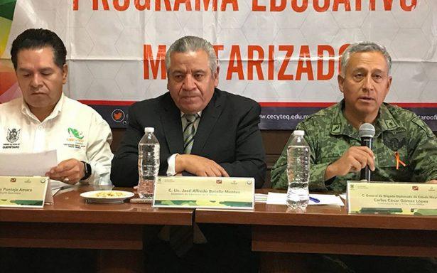 Inicia programa educativo militarizado en Querétaro