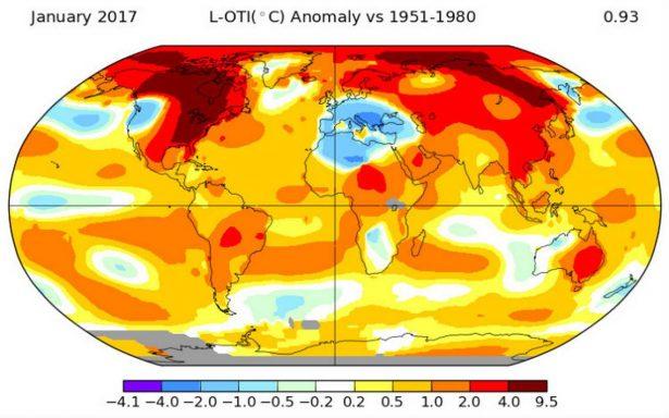 Sin El Niño, 2017 fue el tercer año consecutivo más caluroso registrado