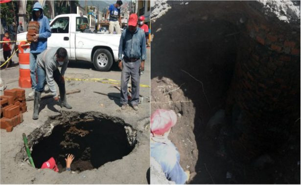 Suman seis hundimientos en Ecatepec por lluvias