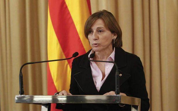 Presidenta del Parlamento catalán da valor simbólico a Declaración de Independencia