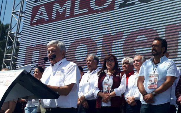 AMLO promete convertir a México en una potencia, sin corrupción ni impunidad