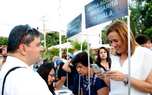 Margarita Zavala instalará 100 módulos en el país para recabar firmas
