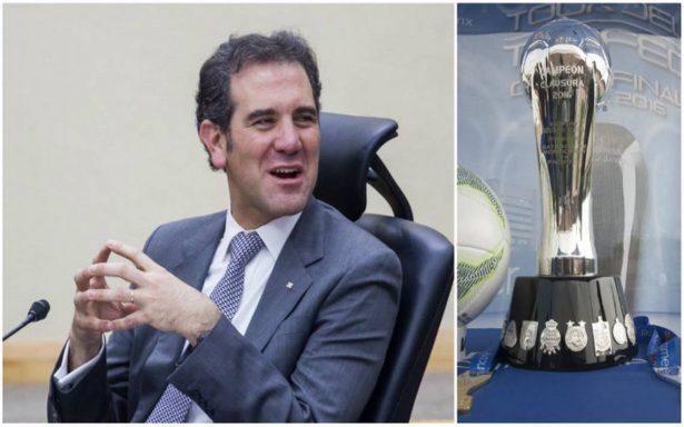 INE espera acuerdo con Femexfut para no cruzar debate con final de futbol