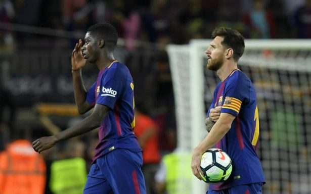"""Dembélé asegura """"haber cumplido un sueño"""" al jugar junto a Messi y Suárez"""