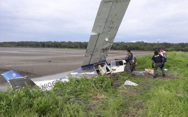 Rescatan a dos presuntos narcos mexicanos tras desplome de avioneta en Ecuador