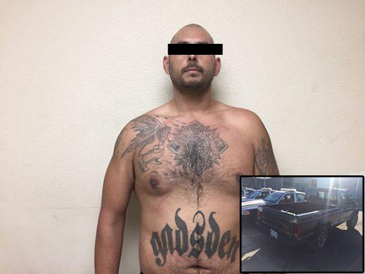 Detienen a californiano por robacarros