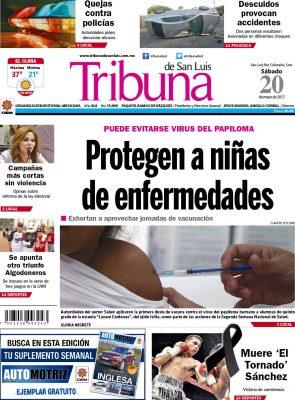 Portada Tribuna  20 mayo 2017