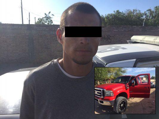 Detienen cafre con auto robado