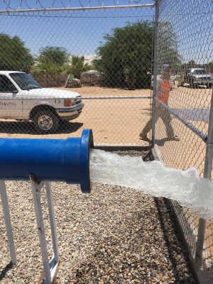 Pozo número17 aportará entre 80 y 100 litros de agua por segundo