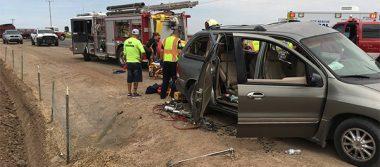 Niño de 6 años queda prensado tras choque en carretera de Somerton