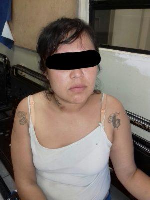 Vendedora ambulante de droga fue arrestada