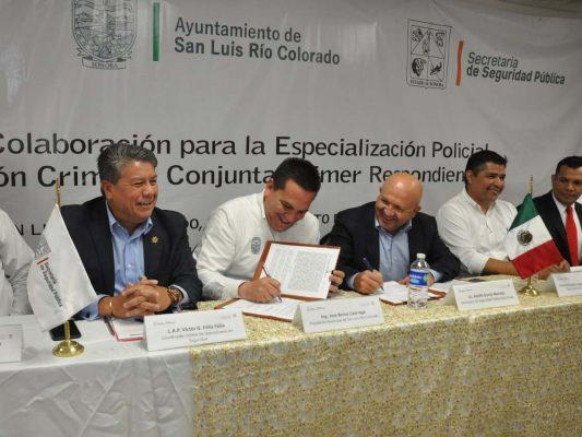 Firman convenio de capacitación Ayuntamiento y SSPES