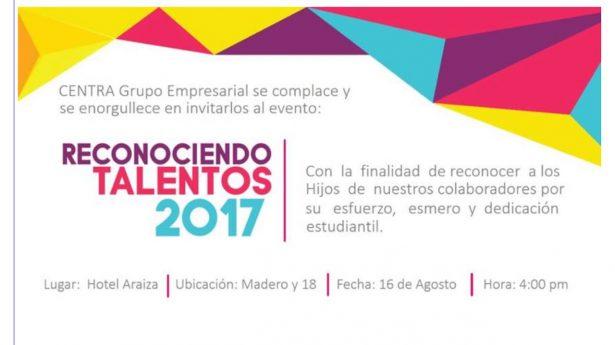"""Entregan """"Reconocimiento a Talentos 2017"""""""