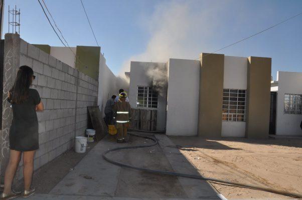 Fuerte incendio en casa