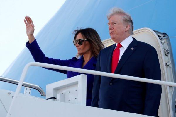 Trump despega hacia Japón para iniciar su primera gira asiática