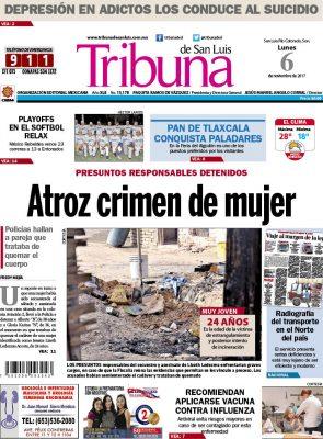 Portada Tribuna 6 noviembre 2017