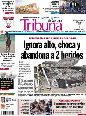 Portada Tribuna 7 noviembre 2017