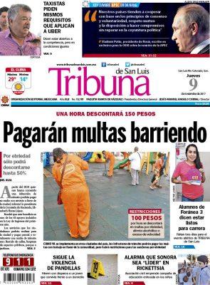 Portada Tribuna 9 noviembre 2017