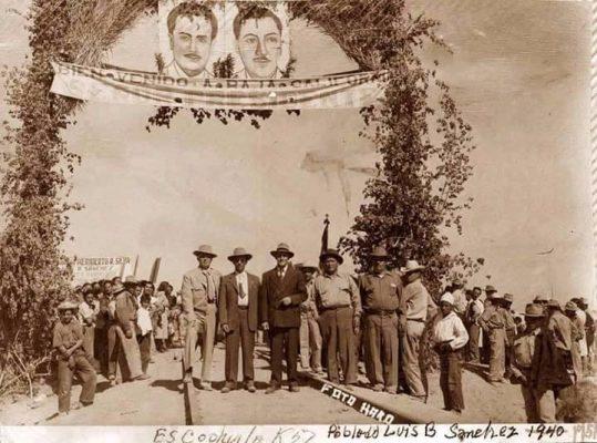 Inauguración del ferrocarril Sonora-Baja California