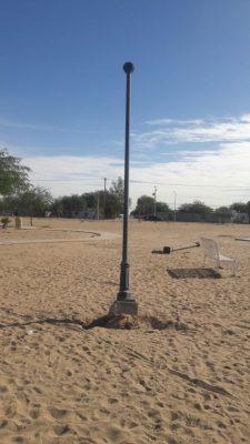 """Menores se roban cableado de alumbrado de un parque en la """"Solidaridad"""""""