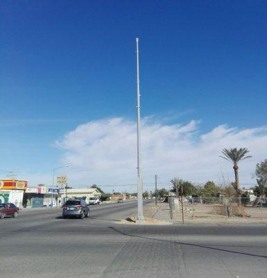 Comenzó la instalación de postes para video vigilancia