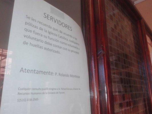 Renovarán revisión de récord criminal a servidores católicos