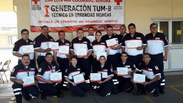 Concluyen curso primera generación de Técnicos en Urgencias Médicas