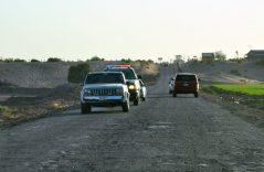 Muchos baches en carreteras rurales