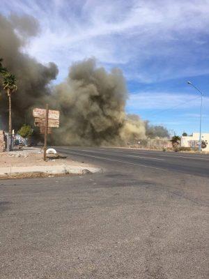 Movilizan a los bomberos incendios en la ciudad
