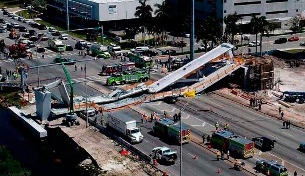 Concluye búsqueda de víctimas en puente colapsado en Florida ; suman seis muertos