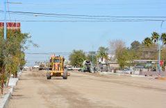 Lentos los trabajos de pavimentación de la calle 22
