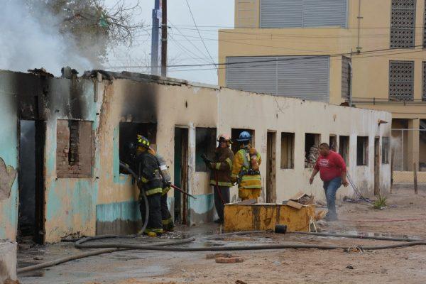 Se registra un incendio en una cuartería