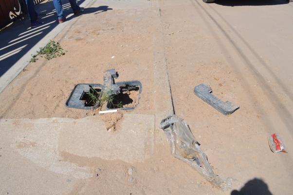 Tapas de tomas quebradas, Colonia Sonora slrc