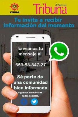 TRIBUNA ofrece el servicio de envío de noticias a través de WhatsApp